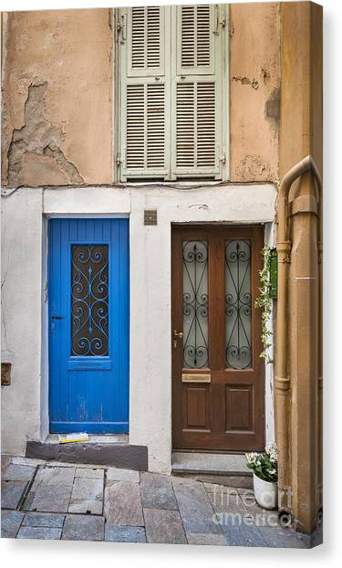 Old Wooden Door Canvas Print - Doors And Window by Elena Elisseeva