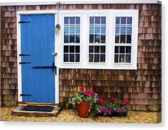 Blue Door - Doors And Windows Series 01 Canvas Print