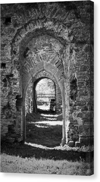 Doors At Ballybeg Priory In Buttevant Ireland Canvas Print