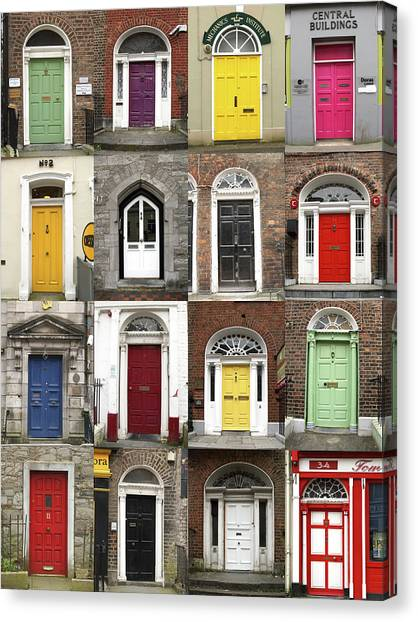 Doors Of Limerick Canvas Print