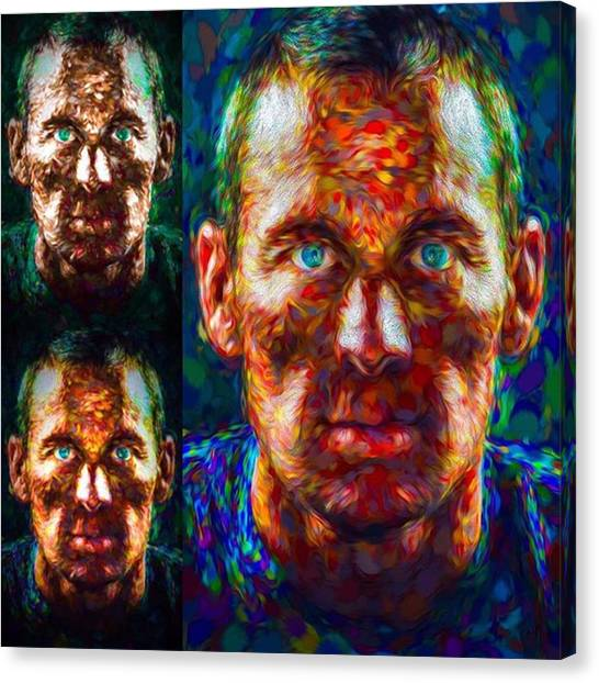 Cycling Canvas Print - Doping ?  Who Cares ?  Can You Tell If by David Haskett II