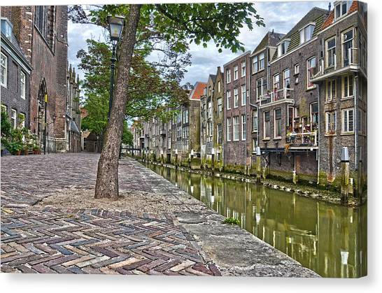 Dordrecht Behind The Church Canvas Print