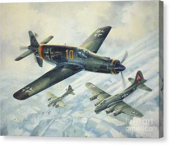 Luftwaffe Canvas Print - Dornier Do335 Pfeil Arrow by Randy Green
