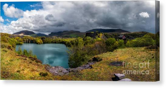 Snowdon Canvas Print - Dorothea Quarry Panorama by Adrian Evans