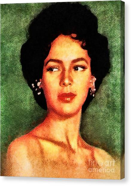 Stardom Canvas Print - Dorothy Dandridge, Vintage Hollywood Legend by John Springfield