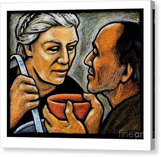 Dorothy Day Feeding The Hungry - Jlddf Canvas Print