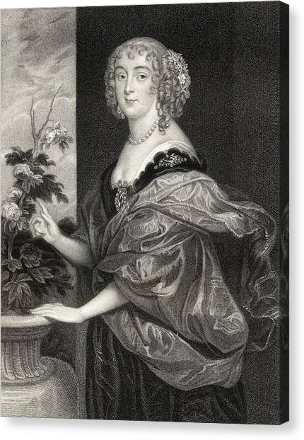 Sunderland Canvas Print - Dorothy Sidney Countess Of Sunderland by Vintage Design Pics