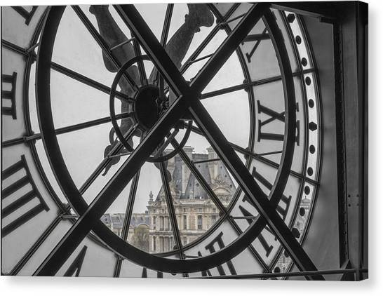 D'orsay Clock Paris Canvas Print