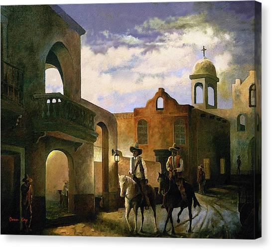 Dos Amigos Canvas Print by Donn Kay