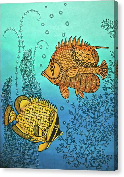 Dos Fishies Canvas Print