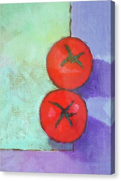 Dos Tomates Canvas Print by Arte Costa Blanca