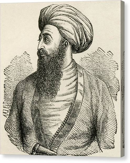 Emir Canvas Print - Dost Mohammad Khan, 1793 To 1863. Emir by Vintage Design Pics