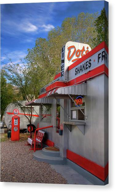 Dot's Diner In Bisbee Canvas Print