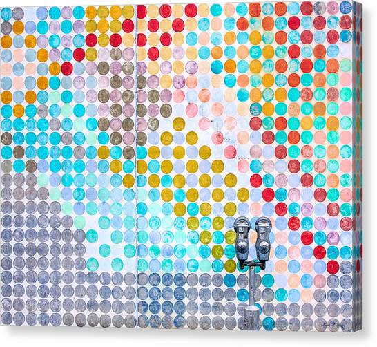 Light Paint Canvas Print - Dots, Many Colored Dots by Todd Klassy