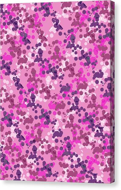 Repeat Canvas Print - Dotted Camo by Louisa Knight