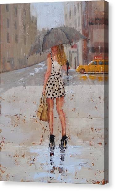 Streets Canvas Print - Dottie by Laura Lee Zanghetti