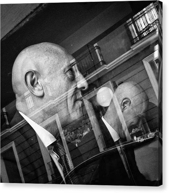 Head Canvas Print - Doubald  #bald #head #men #people by Rafa Rivas