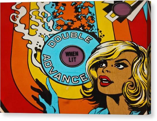 Double Advance - Pinball Canvas Print