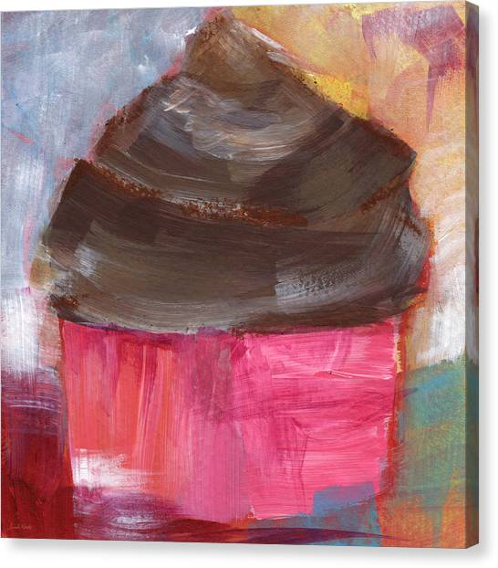 Frosting Canvas Print - Double Chocolate Cupcake- Art By Linda Woods by Linda Woods