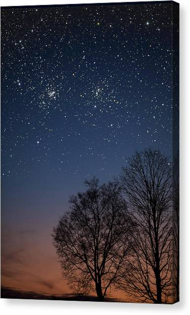 Double Cluster Sunset Canvas Print
