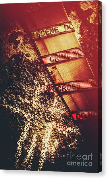 Caution Canvas Print - Double Crossing Crime Scene Investigation by Jorgo Photography - Wall Art Gallery