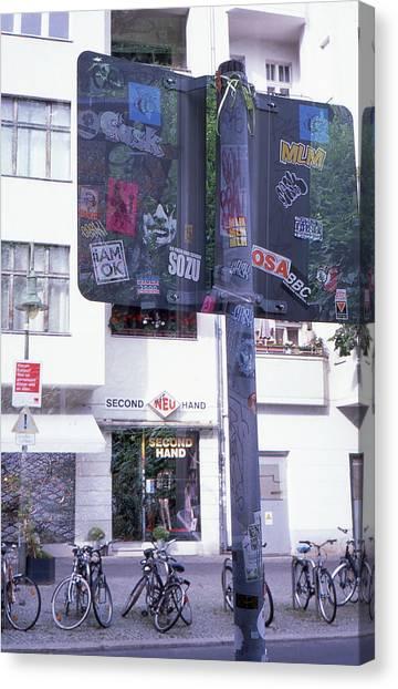 Double Exposure Street Sign Canvas Print
