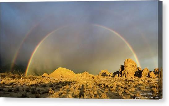 Double Rainbow Gold Canvas Print