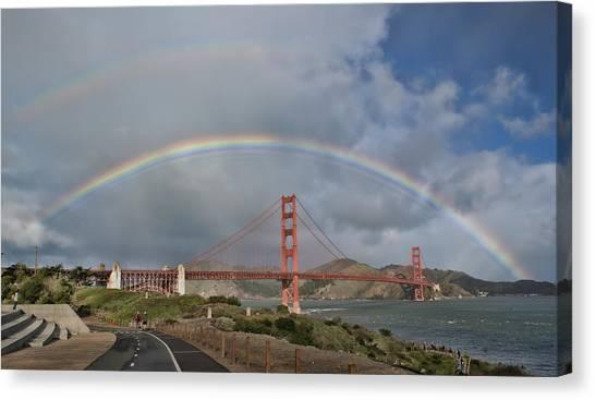 Double Rainbow Golden Gate Bridge Canvas Print