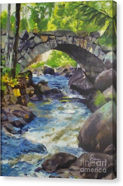 Double Stone Arch Bridge  Canvas Print