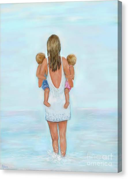 Big Sister Canvas Print - Double The Fun by Leslie Allen