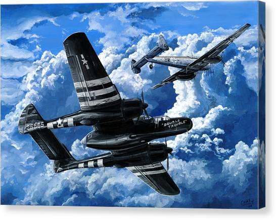 Black Widow Canvas Print - Double Trouble by Charles Taylor