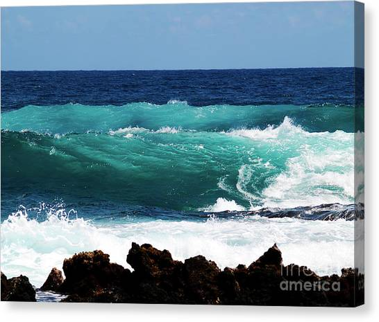 Double Waves Canvas Print