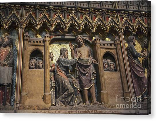 Doubting Thomas Scene Canvas Print
