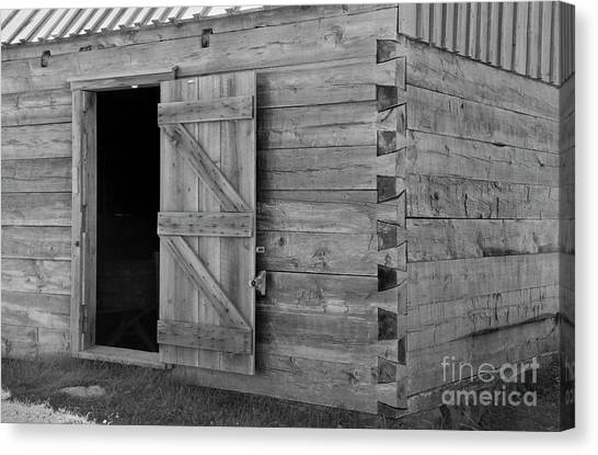 Doucet Barn Canvas Print by Lionel F Stevenson