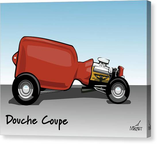 Douche Coupe Canvas Print