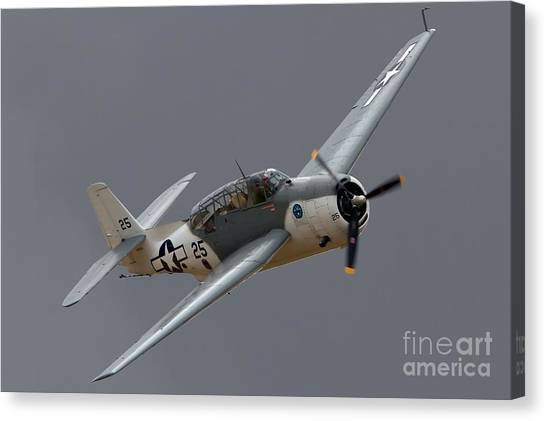 Grummantbf Avenger 2011 Chino Planes Of Fame Canvas Print