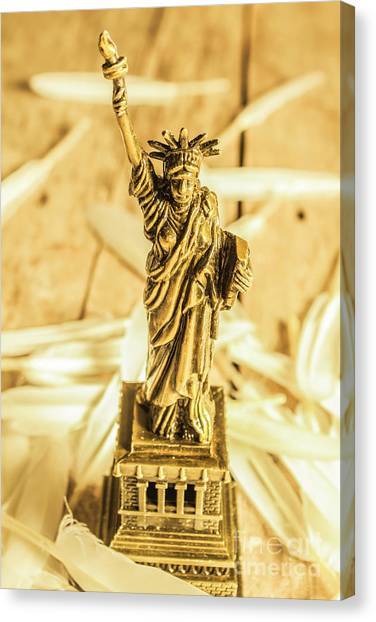 Dove Canvas Print - Dove Feathers And American Landmarks by Jorgo Photography - Wall Art Gallery
