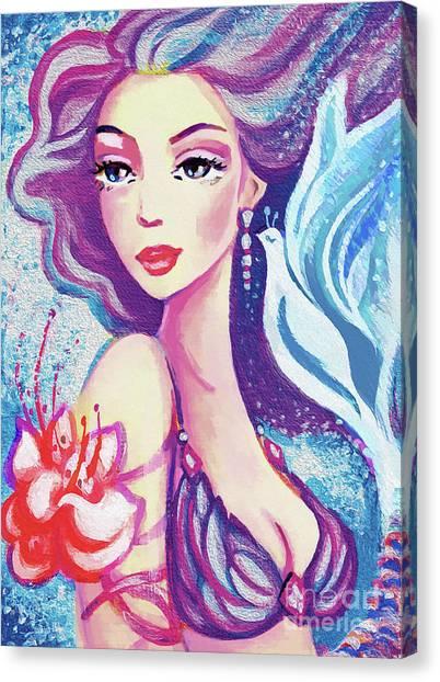 Dove Mermaid Canvas Print