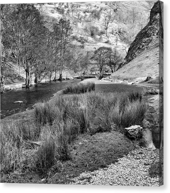 Sky Canvas Print - Dovedale, Peak District Uk by John Edwards