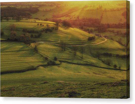Peak District Canvas Print - Dovedale Sunset 2 by Chris Fletcher