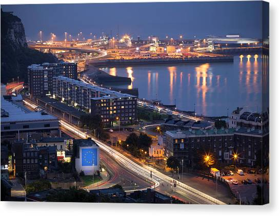 Brexit Canvas Print - Dover Nights by Ian Hufton