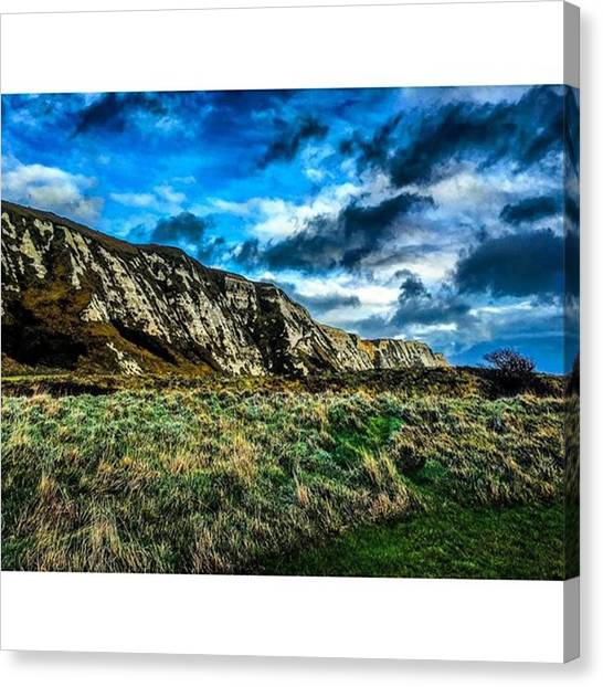 Rainclouds Canvas Print - #dover #white #whitecliffs #kent #2015 by James Young