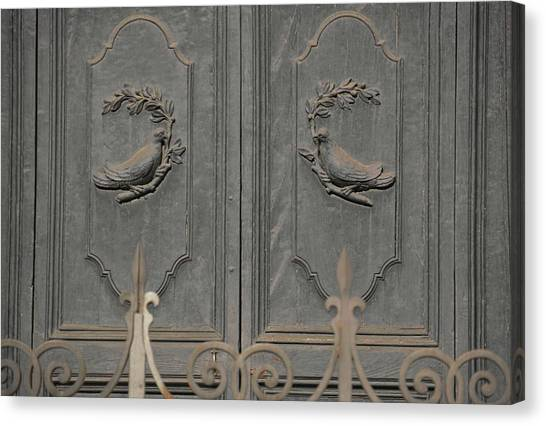 Doves On The Doorway Canvas Print by JAMART Photography