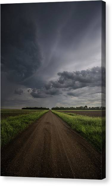 Tornadoes Canvas Print - Down A Little Dirt Road  by Aaron J Groen
