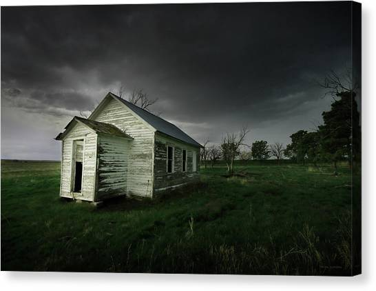 Down At The Schoolyard Canvas Print