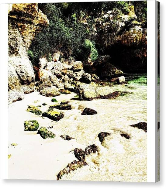Spelunking Canvas Print - Down By The Ocean #travel #mallorca by Tee Tallent