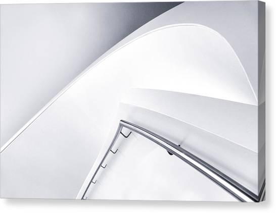 Stair Canvas Print - Down Curve by Jeroen Van De Wiel