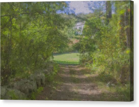 Down From The Mansion Canvas Print