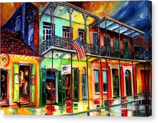 Louisiana Canvas Print - Down On Bourbon Street by Diane Millsap