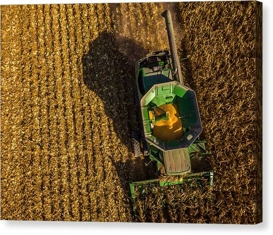 Down On The Combine Canvas Print